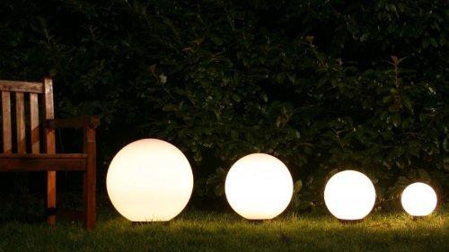 Arredo giardino sfere luminose - Sfere illuminazione giardino ...