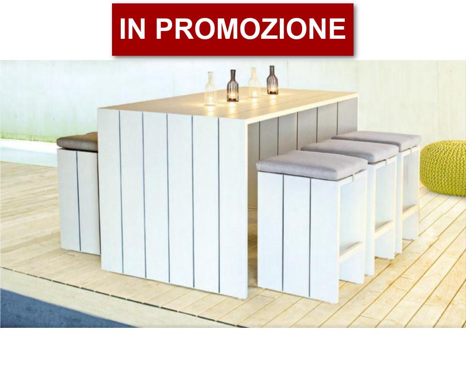 Tavoli E Sedie Alluminio Per Bar.Tavoli E Sedie Atlantic Tavolo Bar 6 Sgabelli