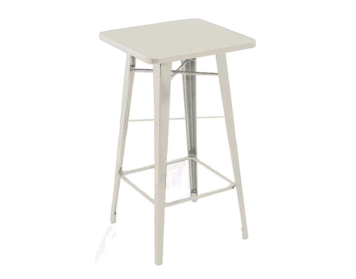 Tavoli e sedie tavolo in lamiera con sgabelli